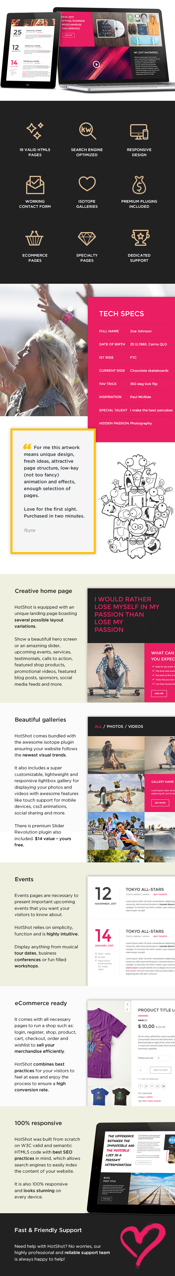HotShot – Self Promotion HTML Template